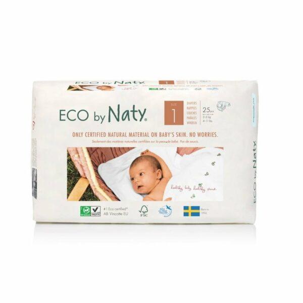 ECO by Naty Ekološke plenice | 1 NEWBORN | 2–5 kg