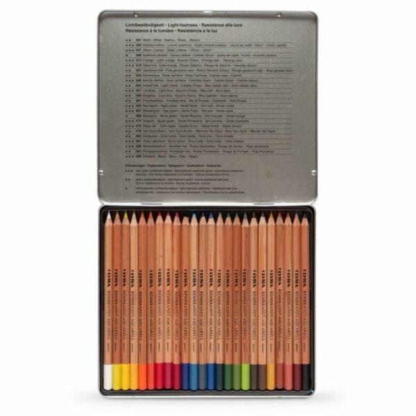 Lyra Barvice | Rembrandt Aquarell | Kovinska škatla | 24 barv