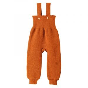 Disana Eko volnene pletene hlače z naramnicami | Več barv