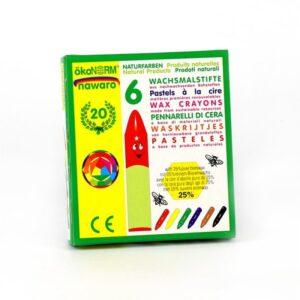 Oekonorm Nawaro Naravne voščenke | Classic | 6 barv