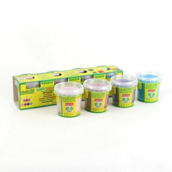 Oekonorm Nawaro Naravni mehki plastelin | 4 barve Princess