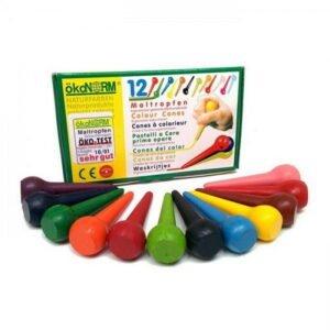 Oekonorm Nawaro Ergonomske voščenke | Conic | 12 barv