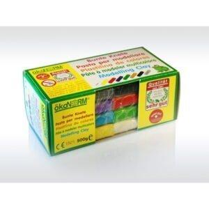 Oekonorm Nawaro Naravni plastelin | Vedno mehak | 8 barv | 500 g