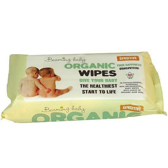Beaming Baby Organski biorazgradljivi negovalni robčki | Za občutljivo kožo | Sensitive