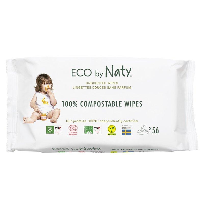 vitababy Eco by Naty Ekoloski negovalni robcki za obcutljivo kozo sensitive. Neodisavljeni. 56 kos 2