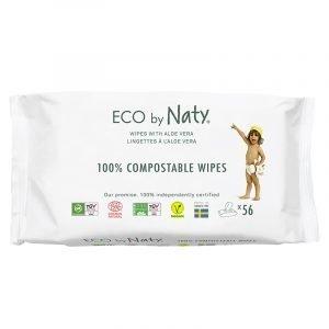 Eco by Naty Ekološki negovalni robčki za občutljivo kožo   Sensitive   Neodišavljeni   Aloe vera