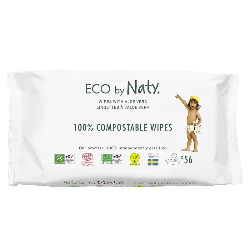 vitababy Eco by Naty Ekoloski negovalni robcki za obcutljivo kozo sensitive. Neodisavljeni. Aloe vera. 56 kos 1