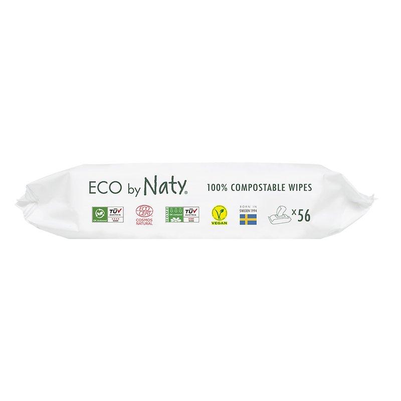 vitababy Eco by Naty Ekoloski negovalni robcki za obcutljivo kozo sensitive. Neodisavljeni. Aloe vera. 56 kos 2