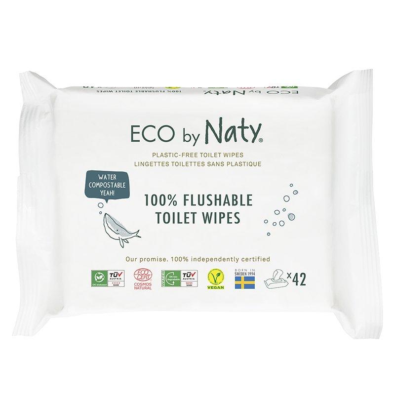 vitababy Eco by Naty Ekoloski negovalni robcki za obcutljivo kozo sensitive. Neodisavljeni. Mini Flushable 1