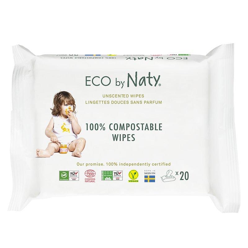 vitababy Eco by Naty Ekoloski negovalni robcki za obcutljivo kozo sensitive. Neodisavljeni. Mini Potovalni. 20 kos 1