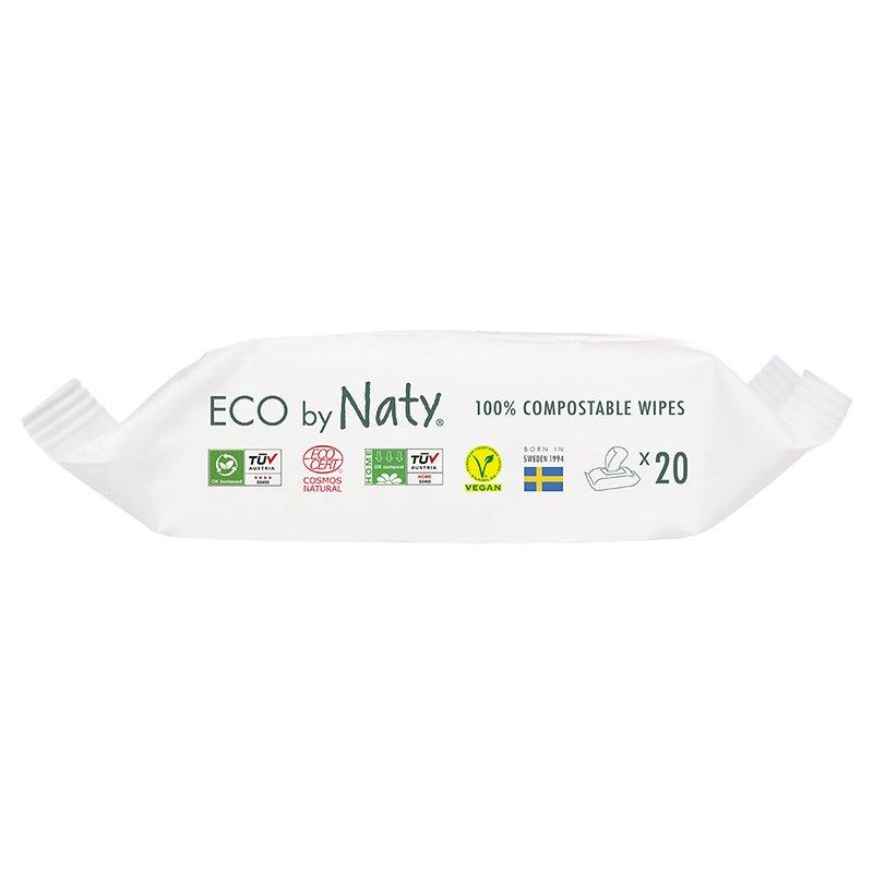 vitababy Eco by Naty Ekoloski negovalni robcki za obcutljivo kozo sensitive. Neodisavljeni. Mini Potovalni. 20 kos 2