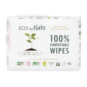 Eco by Naty Ekološki negovalni robčki za občutljivo kožo   Sensitive   Neodišavljeni
