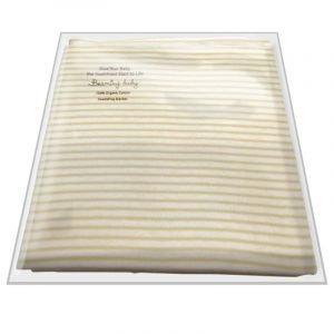 Beaming Baby Bombažna dvoslojna odejica | 75 x 75 cm | Peščene črte