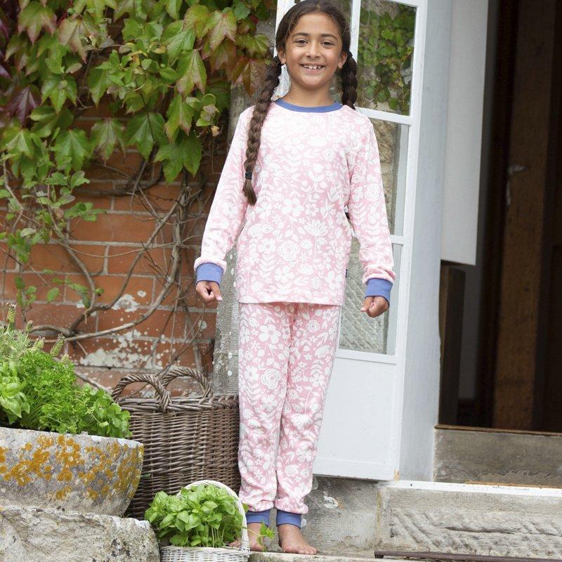 vitababy kite pizama cvetlicni listi roznata 6 mes. 11 let 2