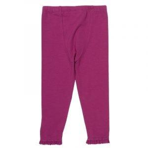 Kite Udobne hlače/legice z volančki   Jagodično rožnata