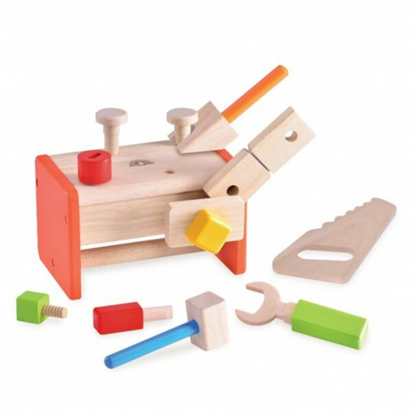 Wonderworld Lesena mizica & kovček z orodjem | 2 v 1 | Manjša