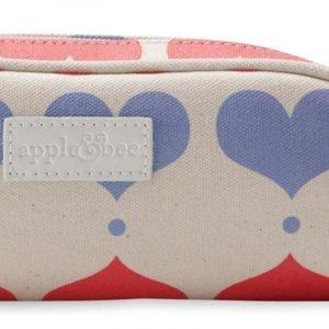 Apple&Bee Šolska puščica s potiskom   Lovehearts