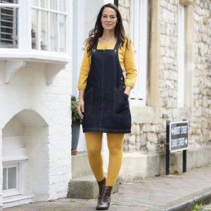 Kite Ženska kratka kavbojska obleka brez rokavov | Denim | Indigo