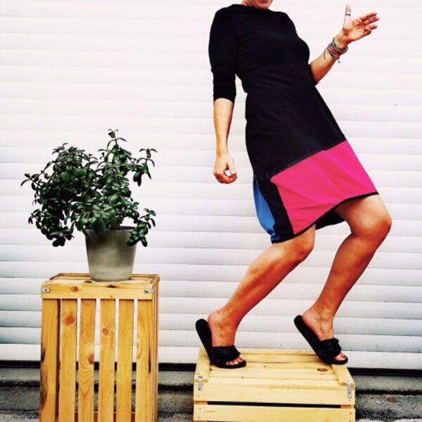 Lanabe Ženska obleka Hedonist Happy | 3/4 rokavi | Colour