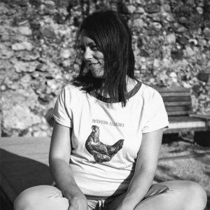 Lanabe Ženska majica   Štajerska kokoš   Bela