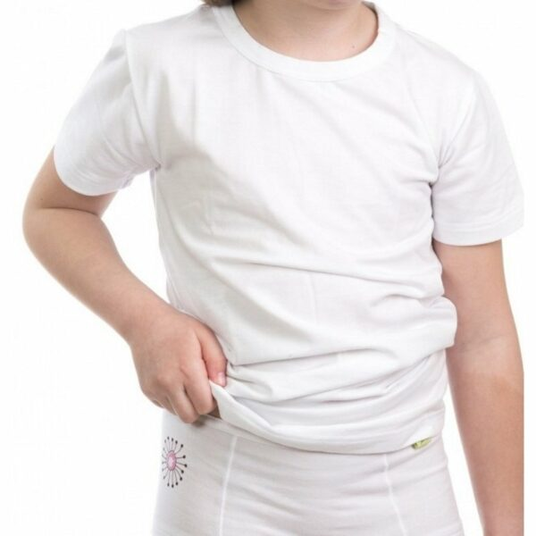 Lanabe Otroška majica s kratkimi rokavi   Bela