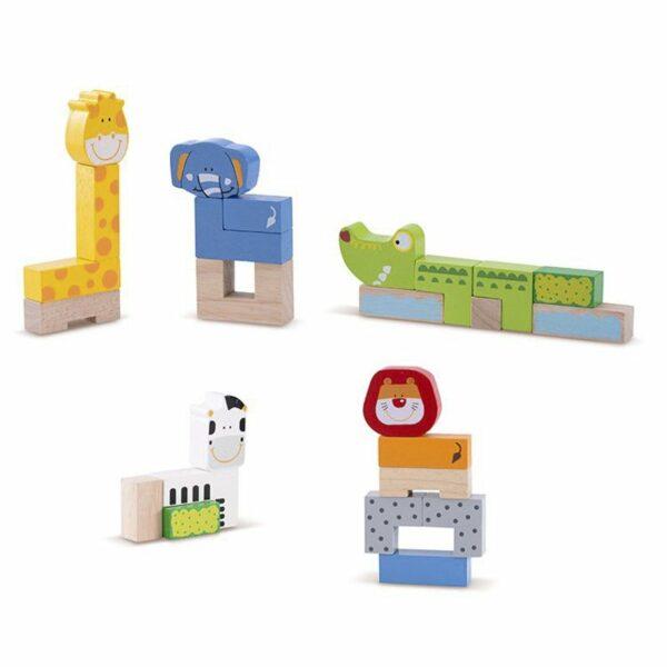 Wonderworld Lesene kocke | Živali